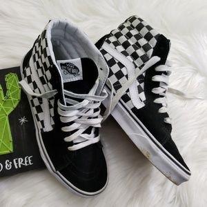 Vans Checkerboard Hi-Top Sneakers